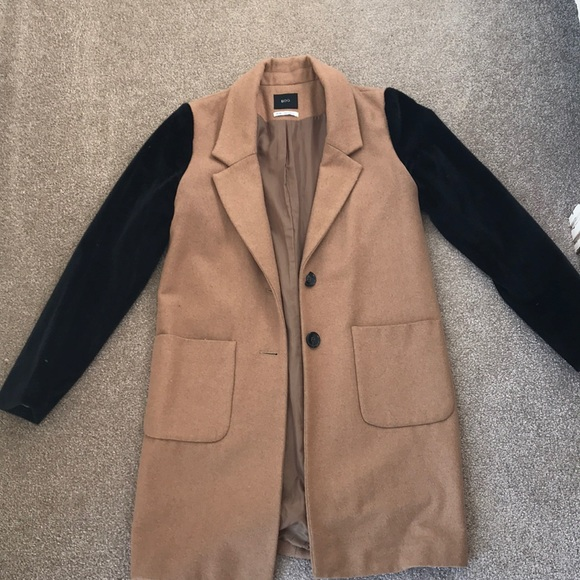 BDG Jackets & Blazers - Camel Jacket with Faux Fur Sleeves